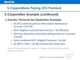 33 continuing education for cpas qualified ltc insurance federal taxation s corporations