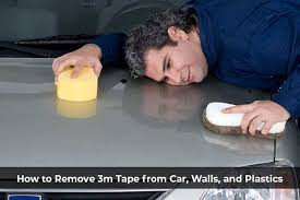 how to remove 3m tape from car walls