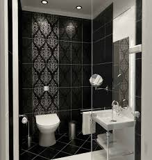 Black Bathroom Design With Black Marble Wall Patterned And Black Marble  Floor Also White Washbasin And  Modern Bathroom TileBathroom ...