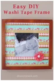 diy washi tape frame easy photo gift idea at directorjewels com