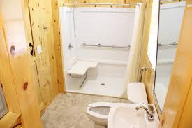 Basic Bathroom Cabin With Bathroom Handicap Accessible Sea Pirate Campground