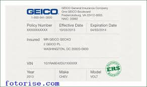 Geico Auto Quote Stunning Geico Insurance Template Card All Free Templates To Download