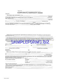 Download Michigan Warranty Deed Form Pdf