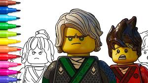 Lego Ninjago Movie Coloring Pages Coloring Book Video For Kids Rainbow Tv