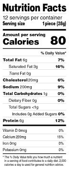 Cheese Nutrition Chart String Cheese Frigo Cheese Heads