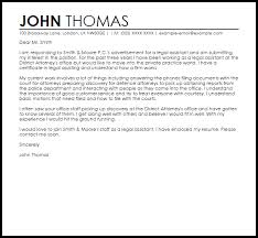 Sample Legal Cover Letters Sample Cover Letter For A Legal Assistant
