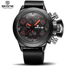 online get cheap popular watch brands for men aliexpress com skone brand men s popular watches date chronograph sport watch men guaranteed military watch silicone wristwatch fashion