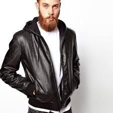 7 hooded leather jacket
