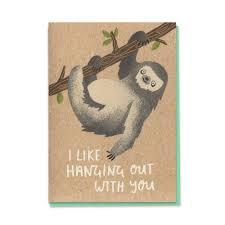 sloth hanging card