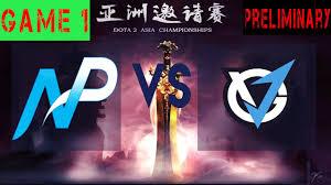 eng np vs vg j live bo1 dota 2 asia championships 2017 vg