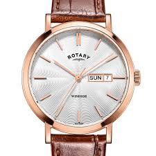 rotary classic and contemporary ladies and gents watches rotary rotary mens rose gold windsor watch w brown strap