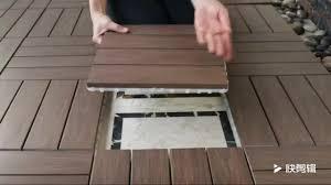 eco friendly diy deck. Eco Friendly Easy Install Outdoor Interlock Flooring Diy Wpc Deck Tile V