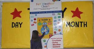 Day Date Weather Chart Bullseyes Playground Felt Weather Chart