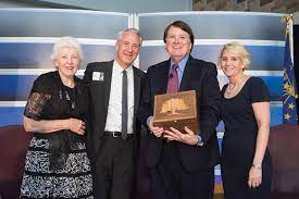 Randall Shepard presented with award   Indiana Court Times