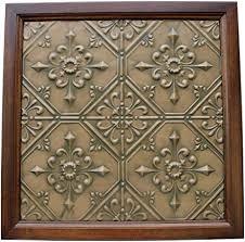 vintage inspired metal tile wall art