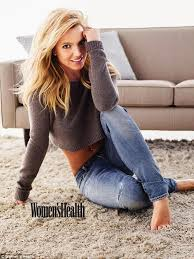 spears at home the toxic hit maker modeled ripped jeans and a brown crop sweater