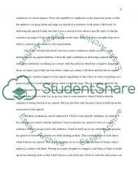 self assessment analysis speech or presentation example topics  self assessment analysis essay example