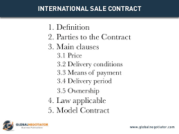 sales contracts sample international sale contract contract template and sample