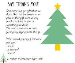 Christmas Manners Printables - Christian Montessori Network