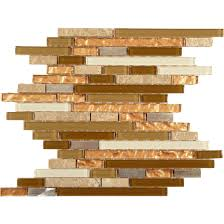 random bricks bronze copper glass stone metal brick tile backsplash tiles olive glassstone and glossy