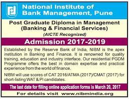 nibm post graduate diploma in banking and financial services  nibm post graduate diploma in banking and financial services management