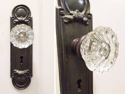 vintage glass doorknobs rather square