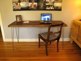 diy reclaimed wood desk with drawers and x shaped legs