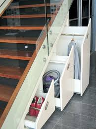 Interior Exciting Storage Clever Closet White Oak Wood Tiled Floor ... |  Home Sweet Home | Pinterest | Stair storage, Storage and White oak wood