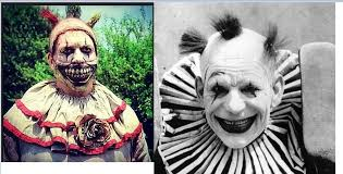 a clown in pics twisty from ahs