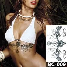 1 лист <b>татуировки на грудь</b> временные водонепроницаемые ...
