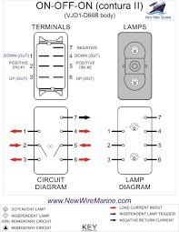 on off on rocker switch wiring diagram