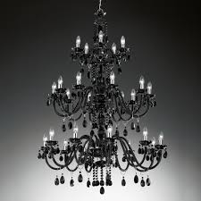 large classic black chandelier