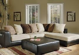 leather and microfiber sectional 2