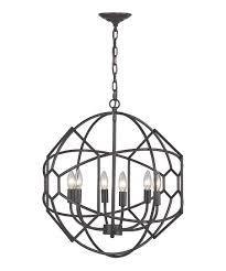 aged bronze strathroy honeycomb metal orb chandelier