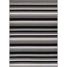 kings court uni stripes grey 3 ft x 5 ft modern geometric area rug