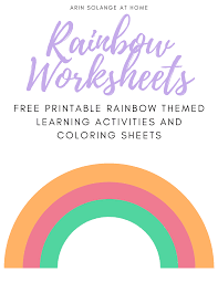 Below you'll find 20+ gorgeous free printable valentine crafts for kids. Free Rainbow Coloring Page And Activities For Kids Arinsolangeathome