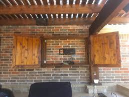 cute outdoor tv enclosure