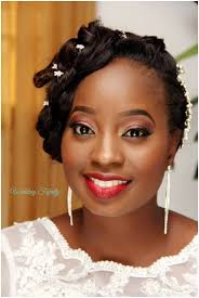 nigerian bridal hair makeup wedding feferity 0001