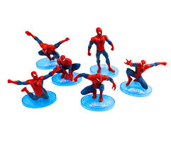 Superhero Cake Toppers 7 Pieces Spiderman Bake Group