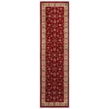 claire red beige 2 ft x 7 ft indoor runner rug