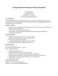 Hr Resume Samples Examples For Safety Professionals Human