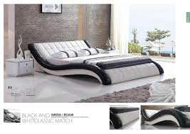 Modern White PVC PU Leather Cushion Bed for Bedroom Furniture-in ...