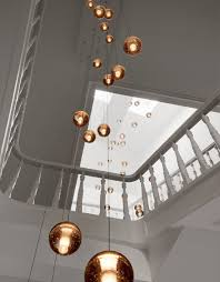 stairwell lighting. lighting installations for stairwells and tall living spaces using the bocci series 14 drop pendants layered at different heights we have been able stairwell g