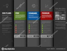 Product Service Pricing Comparison Table Template Description Dark ...
