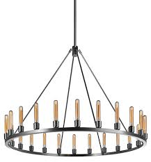 niche modern spark 48 modern chandelier brushed stainless with beacon bulbs