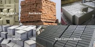 red bricks vs aac blocks vs fly ash bricks vs solid concrete blocks vs clc blocks
