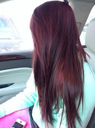 Dark Brown Red Cherry Coke Long