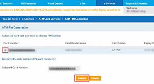 how to generate atm pin for sbi sbi