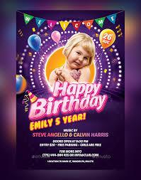 Birthday Flyers 30 Kids Party Flyer Psd Templates Free Premium Designyep