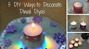 christmas diwali diy 5 easy ways to decorate tea lights diyas